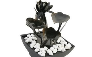 Indoor Water Features - Save 25% on the Lily Tabletop Fountain