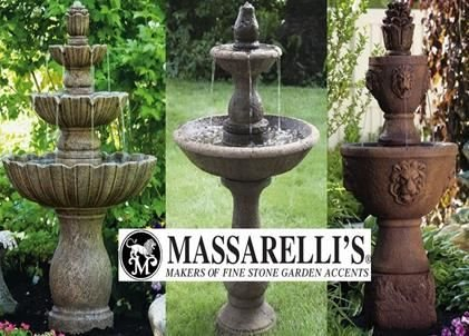 Rustic Garden Fountains from Massarelli