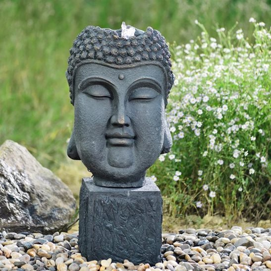 additional image for Bubbling Buddha Head Water Feature