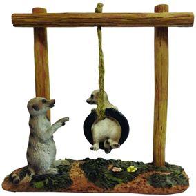 Meerkat Tyre Playground Garden Ornament