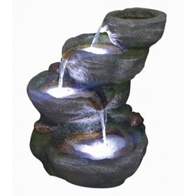 3 Fall Rockfall Lit Water Feature