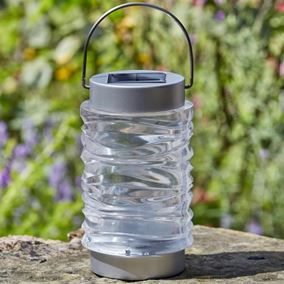 Stainless Steel Wave Lantern (Twin Pack)