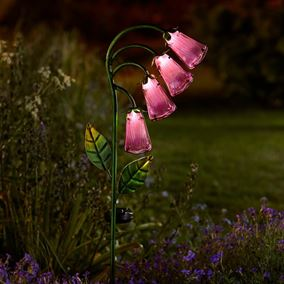 Solar Glass Foxglove Flower Lights (2 Pack)