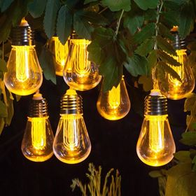 10 Edison Style Bulb Outdoor Garden Light String