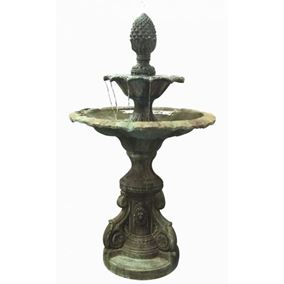 Register 2 Tier Glass Reinforced Concrete Fountain Water Feature