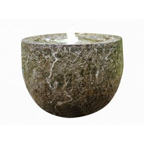 Carved Marble Effect Bowl Lit Water Feature