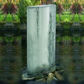 The Eclipse Mirror Stainless Steel Water Feature