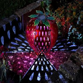Funky Strawberry Solar Lantern Garden Light