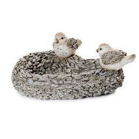Pebble Detailed Bird Feeder Garden Ornament