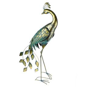 Amazon Metal Peacock Garden Ornament Antique Gold