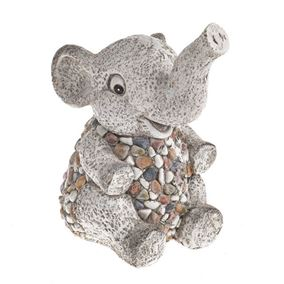 Pebble Resin Elephant Ornament