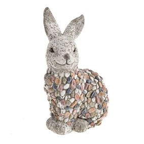 Pebble Resin Rabbit Ornament