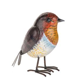 Farmyard Red Robin Metal Garden Ornament