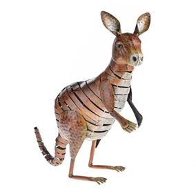 Wild Jungle Kangaroo Metal Garden Ornament