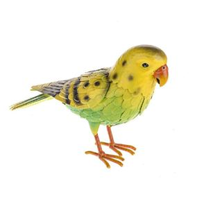 Wild Jungle Yellow Budgie Metal Garden Ornament