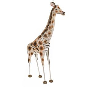 Wild Jungle Giraffe Metal Garden Ornament