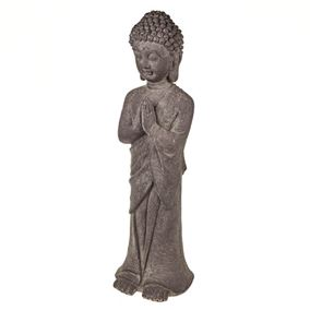 Zen Oriental Buddha With Hands Together Statue