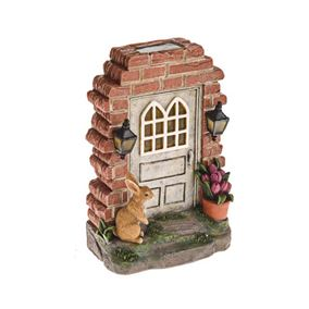 Secret Garden Solar Powered Fairy Door With Rabbit