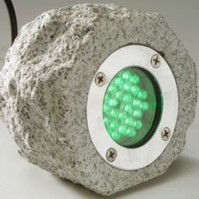 30 LED Natural Rock Underwater Pond Light (Green)