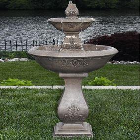 Cast Stone Two Tier Oval Jubilee Fountain