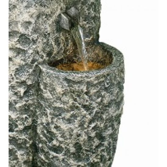 additional image for Five Tier Circular Granite Falls Water Feature with Lights