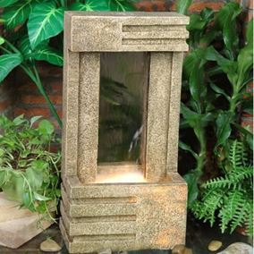 Aztec Sandstone Open Back Cascade Water Feature
