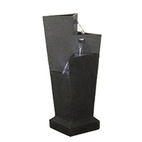 Triangular Three Fall Black Water Feature (Solar Powered)