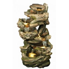 Large 6 Fall Woodland Lit Water Feature