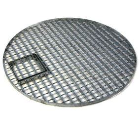 Round Galvanised Steel Water Feature Grid (87cm Ø)