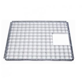 Small Rectangular Galvanised Steel Water Feature Grid