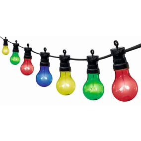 20 Multi Coloured Traditional Multi Function Festoon Party Lights