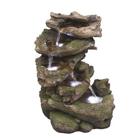 Virginia Driftwood Falls Lit Water Feature