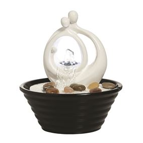 Avellino Lit Indoor Table Top Water Feature