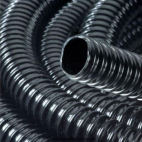 1 Inch/25mm Ribbed Black Water Feature Hose (1 Metre)