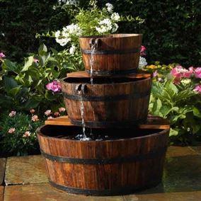 Edinburgh Wooden Barrel Water Feature