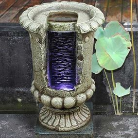 Open Urn Waterfall Water Feature