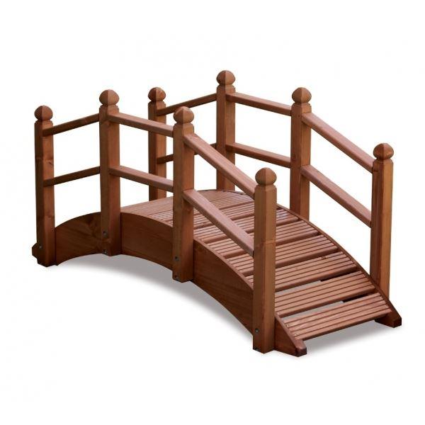 Oriental Wooden Garden Bridge 122cm