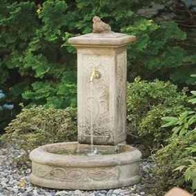 Springtime Garden Fountain (Cedar Water Stone)