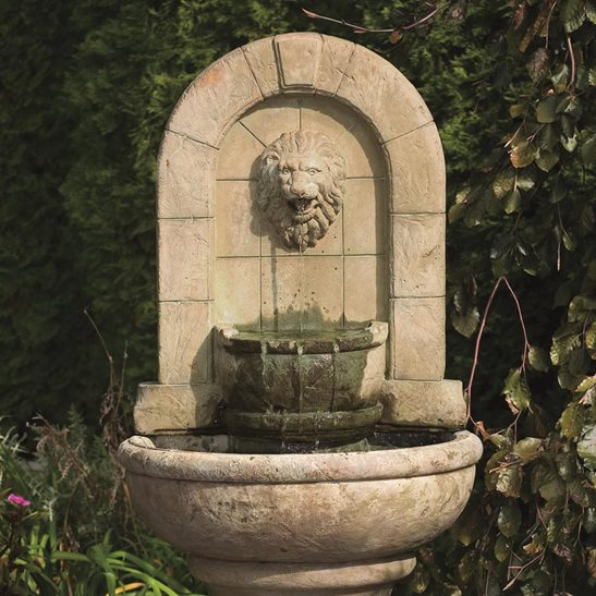 additional image for Lion Finial Garden Fountain