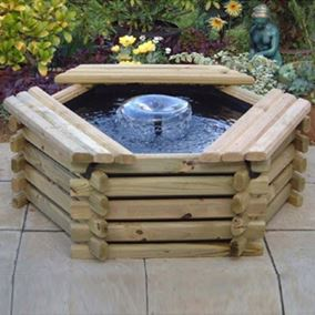 50 Gallon Wooden Deck Pond