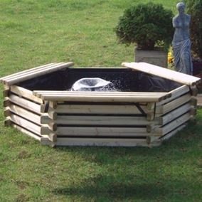 100 Gallon Wooden Deck Pond