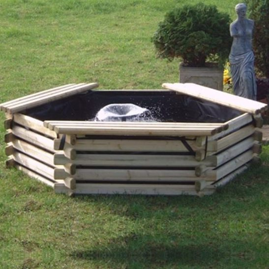 100 gallon wooden deck pond for 100 gallon pond pump