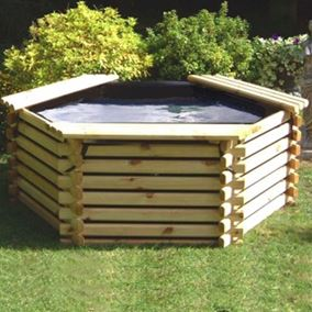 175 Gallon Wooden Deck Pond
