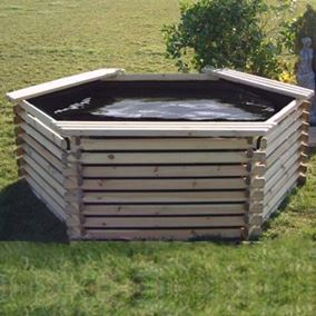 400 Gallon Wooden Deck Pond