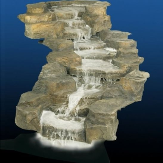 Slate three tier rock cascade waterfall watercourse for Tiered pond waterfall