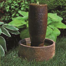 Ecatepec Urn Cast Stone Fountain