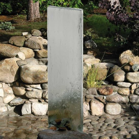 The Tall Rhine Stainless Steel Wall Water Feature 170cm / 68''