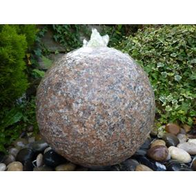Pink Granite Drilled Sphere Water Feature Kit