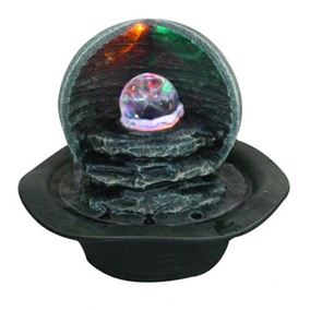 Large LED Crystal Ball Table Top Water Feature