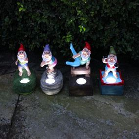 Solar Powered Olympic Garden Gnomes 4 Pack